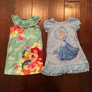 Disney Princesses nightgowns